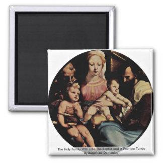 The Holy Family With John The Baptist Fridge Magnets