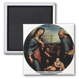 The Holy Family With John The Baptist Magnets