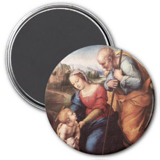The Holy Family with Lamb 3 Inch Round Magnet