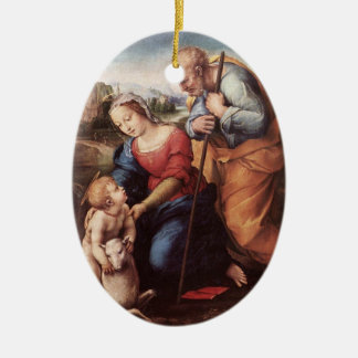 The Holy Family with Lamb Christmas Tree Ornaments