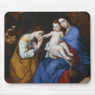 The Holy Family with Saints Anne and Catherine Mouse Pad