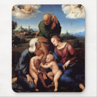 The Holy Family With Saints Elizabeth And John Mouse Pad