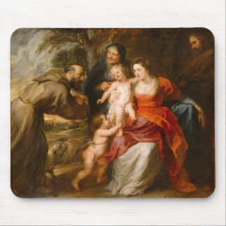 The Holy Family with Saints Mouse Pad