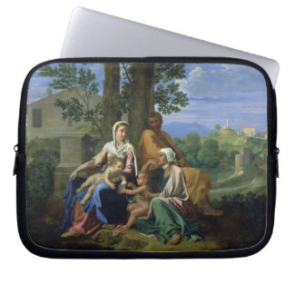 The Holy Family with SS. John, Elizabeth and the I Laptop Sleeve