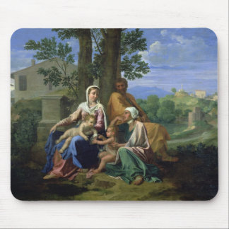 The Holy Family with SS. John, Elizabeth and the I Mouse Pad