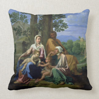 The Holy Family with SS. John, Elizabeth and the I Pillow
