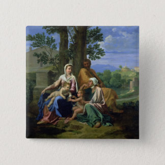 The Holy Family with SS. John, Elizabeth and the I Pinback Button