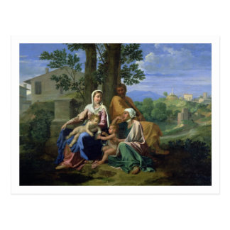 The Holy Family with SS. John, Elizabeth and the I Postcard
