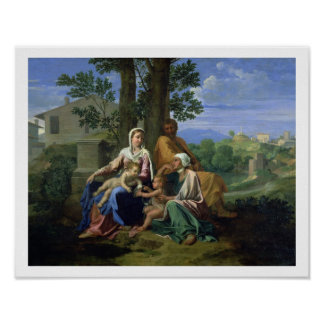 The Holy Family with SS. John, Elizabeth and the I Poster