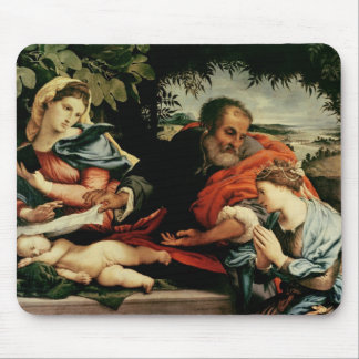 The Holy Family with St. Catherine of Mouse Pad