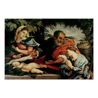 The Holy Family with St. Catherine of Poster