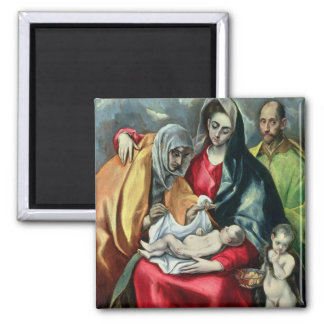 The Holy Family with St.Elizabeth, 1580-85 Magnet