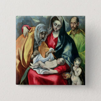 The Holy Family with St.Elizabeth, 1580-85 Pinback Button