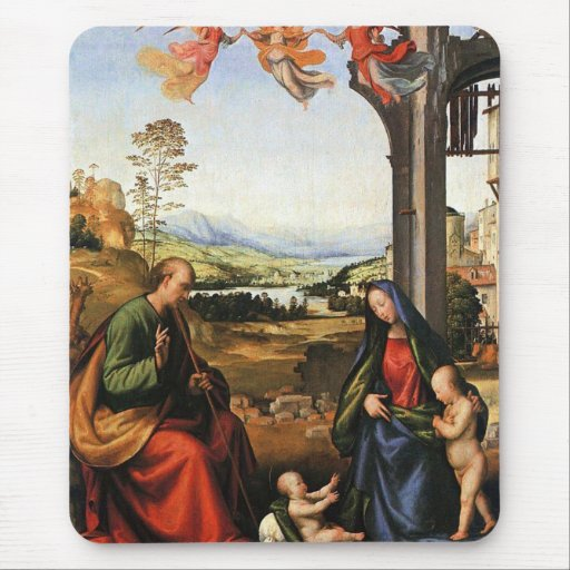 The Holy Family with the Infant St. John Mouse Pad