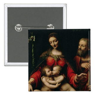The Holy Family with the Infant St. John Pinback Button