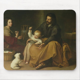 The Holy Family with the Little Bird, c.1650 Mouse Pad