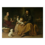 The Holy Family with the Little Bird, c.1650 Posters