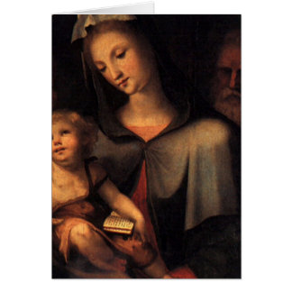 The Holy Family with Young Saint John Cards