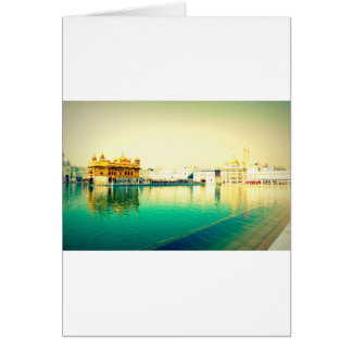 THE HOLY GOLDEN TEMPLE AMRISTAR PUNJAB CARD