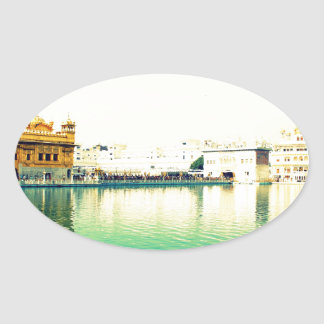 THE HOLY GOLDEN TEMPLE AMRISTAR PUNJAB OVAL STICKER