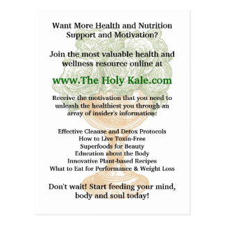 The Holy Kale Promotional Card