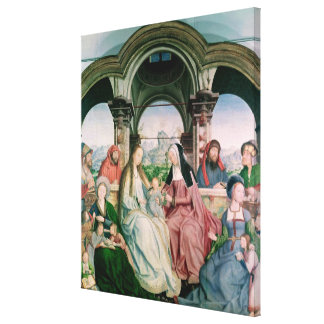 The Holy Kinship, or the Altarpiece of St. Canvas Print