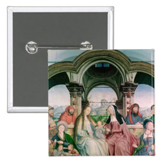The Holy Kinship, or the Altarpiece of St. Pinback Button