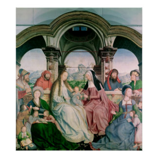 The Holy Kinship, or the Altarpiece of St. Poster