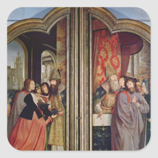The Holy Kinship, or the Altarpiece of St. Square Sticker