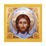 THE HOLY MANDYLION-Icon on Stretched Canvas Gallery Wrap Canvas