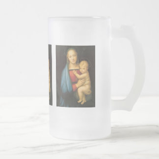 The Holy Mother of Raffaello Santi 'grand' Frosted Glass Beer Mug