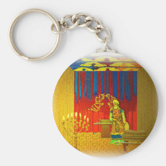 The Holy Place of the Tabernacle with High Priest Keychain
