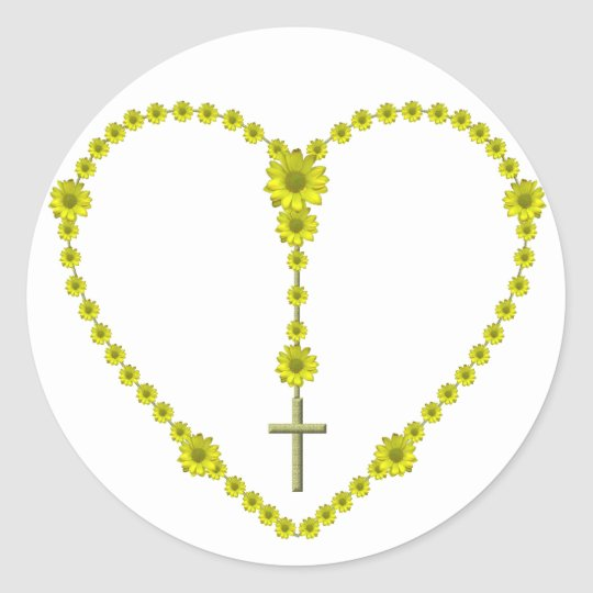 The Holy Rosary Classic Round Sticker
