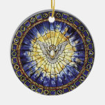 The Holy Spirit Double-Sided Ceramic Round Christmas Ornament