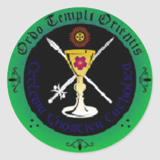 The holy Templers Classic Round Sticker