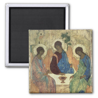The Holy Trinity, 1420s 2 Inch Square Magnet