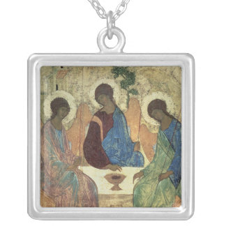 The Holy Trinity, 1420s Square Pendant Necklace