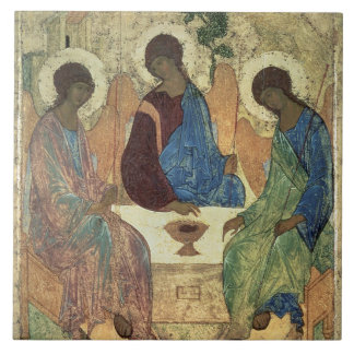 The Holy Trinity, 1420s (tempera on panel) Ceramic Tile