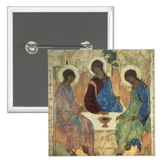 The Holy Trinity, 1420s (tempera on panel) Pinback Button