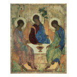The Holy Trinity, 1420s (tempera on panel) Poster