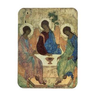 The Holy Trinity, 1420s (tempera on panel) Rectangular Photo Magnet