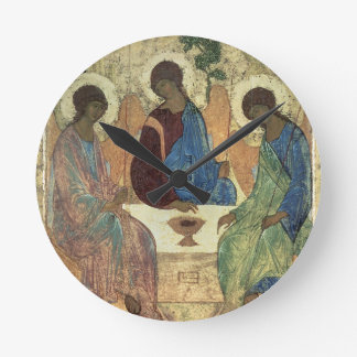 The Holy Trinity, 1420s (tempera on panel) Round Clock