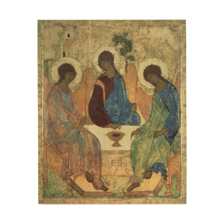 The Holy Trinity, 1420s (tempera on panel) Wood Print