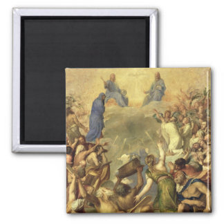 The Holy Trinity, 1553/54 (oil on canvas) 2 Inch Square Magnet