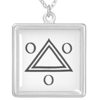 The Holy Trinity : 1 Square Pendant Necklace