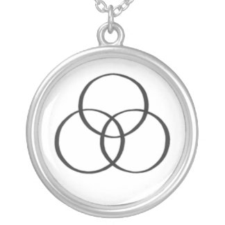 The Holy Trinity : 2 Round Pendant Necklace