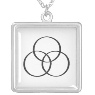 The Holy Trinity : 2 Square Pendant Necklace