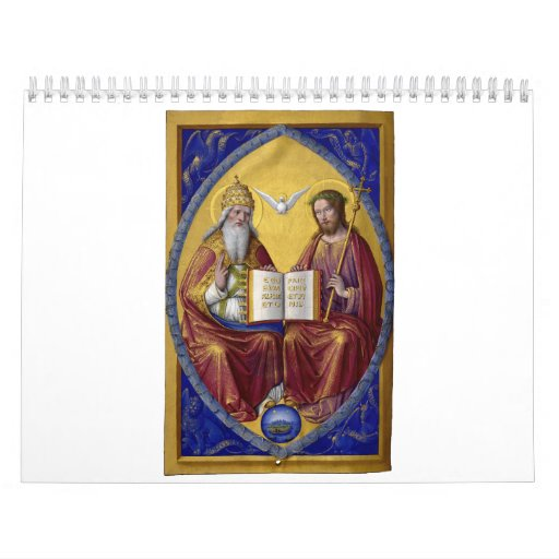 The Holy Trinity by Jean Bourdichon circa 1508 Calendars