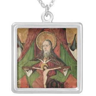 The Holy Trinity from the Mosol Altarpiece Square Pendant Necklace