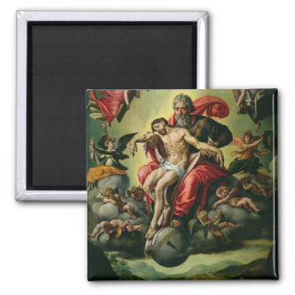 The Holy Trinity 2 Inch Square Magnet